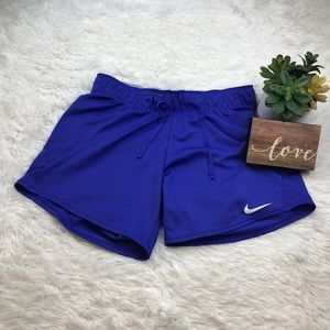 NIKE Dry Attack Blue Dri-Fit Training Shorts